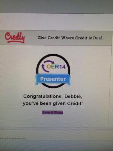 Whoo hoo just got my presenters badge  !